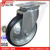 高品質の旋回装置の黒ゴム製手のトロリー車輪