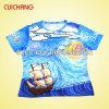 Le T-shirt Ts-040 de polyester de chaleur de transfert de sublimation de Fashional des hommes en gros de bonne qualité
