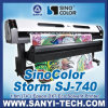el 1.8m Sj-740 Eco Solvent Inkjet Printer con Dual Dx7 Head