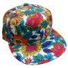 Gorra de béisbol floral de la tela de la manera con el Snapback Sb1590