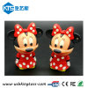 3D Cartoon Rubber Flash Drive con Free Keychain