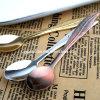 Chapeando a colher de sobremesa Pz054 do aço inoxidável
