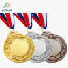 La fabbrica su ordinazione del rifornimento mette in mostra l'oro, l'argento, medaglia in bianco del metallo del bronzo per il regalo del ricordo