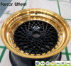 Borda de alumínio da roda da liga do carro do bordo do ouro