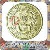 Coin-Op знак внимания латуни цвета золота
