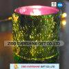 Оптовый гальванизируя подсвечник анаглифа цветастый стеклянный