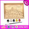 Pintura de brinquedo de madeira para crianças de 2014, Popualr, brinquedos de madeira, brinquedos, pintura, quebra-cabeça, venda quente educativa de madeira DIY Toy Paint W03A057
