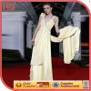 Parte alta Sleeveless Light - Long amarelo Bridal Dress (wzsd-514-001)