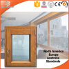 높게 칭찬된 알루미늄 Clading 단단한 나무 여닫이 창 Windows, 목제 알루미늄 프레임에 튼튼한 합동