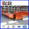 Tri essieu remorque inférieure de bâti de 60 tonnes avec l'échelle mécanique