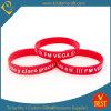 Fördernder roter gedruckter Silikongroßhandelswristband von China