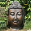 庭DecorationのためのハンドメイドのBig Size仏Head Statue