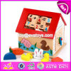 De nieuwe Kubus W12D049 van de Activiteit van de Kinderen van het Stuk speelgoed van het Ontwerp Grappige Houten Multi