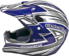 Голубая каска для частей мотоцикла