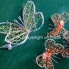 蝶照明モチーフの祝祭LEDの装飾