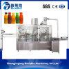 Máquina de rellenar del jugo plástico automático lleno de la botella