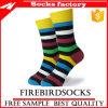 Hochwertige Mann-bunte glückliche gekämmte Baumwollkleid-Socken