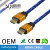 Sipu 24k 3D Gloden HDMI plateado de 1,4 V con cable Ethernet