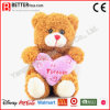Urso dos animais enchidos do dia do Valentim