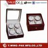 Caja de la devanadera del reloj de la seguridad del motor de la calidad de la perilla de la madera de china