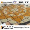 モザイク床のタイル、花模様の大理石の石のモザイク