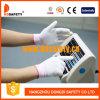 Gant en nylon blanc de travail enduit par unité centrale (DPU100)