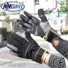 Перчатка работы предохранения от руки механика кожи PU Nmsafety