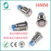 16mm LED Illuminated Momentary Waterproof Metal Push Button Switch
