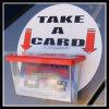 Dispensadores o sostenedores de la tarjeta de visita para las bicis o los coches de las furgonetas de los carros de los vehículos del servicio