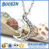 Projeto crescente Handmade por atacado da colar do pendente da lua da prata 925 esterlina
