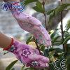 Перчатка работы малышей Nmsafety напечатанная цветком покрынная PU садовничая