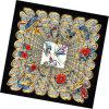 Sciarpa della signora Fashion Printed Square Silk (HC048-1)