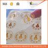 Collant transparent d'impression d'étiquette estampé par papier auto-adhésif imperméable à l'eau de vinyle