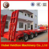 Тяжелые 3 Axle Low Bed Trailer 30-100tons