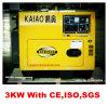 Diesel Generator voor Type van Gebruik van het Huis het Stille en van het Gebruik van het Bureau 3kVA