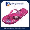 de las mujeres planas Comodidad rosada de la sandalia de baño de la playa voltear sandalias