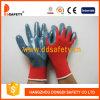 Нитрила раковины 13 датчиков перчатка красного Nylon серого покрытая (DNN342)