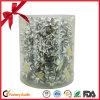 Boog van de Ster van het Lint van het Pakket van de Gift van Kerstmis de Zilveren Vastgestelde