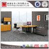 حديثة [ستيل فرم] مفتوحة مكتب حاجز مركز عمل خشبيّة ([نس-بت046])