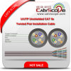 Cat 5e Cream Color 2X4 Twisted Pair Installation Cable del LAN Cable U/UTP Unshielded de Cabling de la estructura