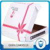 Caja de cartón de empaquetado de la impresión de encargo con la insignia para el regalo