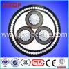 câble 15kv en aluminium de 3X70mm avec le fil d'acier blindé