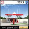 Tienda de la permanente de la estructura de acero de la cubierta de la estación de gasolina PVDF del peaje