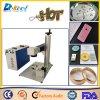 Venta portable del grabado de la etiqueta de plástico del laser de la máquina de la marca del laser de la fibra 20W