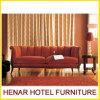 Mobilia classica del salone/sofà rosso di legno dello strato