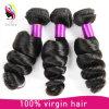 Weave человеческих волос Remy оптовой естественной черной девственницы цвета бразильский