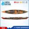 Le siège unique de longueur de la vente en gros 4.3m de kayak de pêche de pouvoir avec Seat&Trolley 2in1 ajoutent le moteur procurable