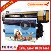 A impressora larga ao ar livre de venda quente do formato de Funsunjet Fs-3202g 3.2m/10FT com dois Dx5 dirige 1440dpi para a impressão das bandeiras do cabo flexível