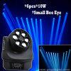 6PCS*10W LED 작은 꿀벌 눈을%s 가진 이동하는 맨 위 광속 빛