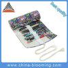 A pena colorida da lona do Drawstring dos artigos de papelaria da caixa de lápis rola acima o saco